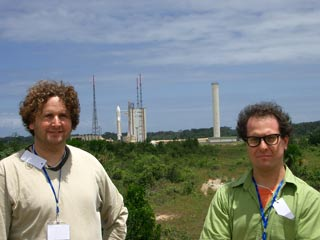 Jim and Mike in Kourou.